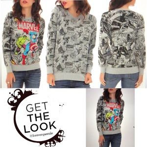 Marvel Heroes Reversible Sweater Size XS